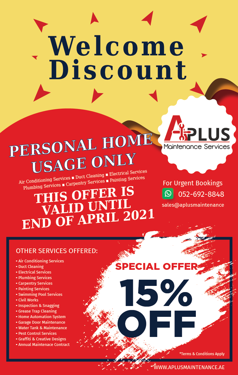 APLUS – Welcome Discount